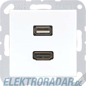 Jung Multimediadose HDMI + USB MA A 1163 ANM