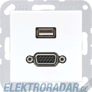 Jung Multimediadose USB + VGA MA A 1183 ANM