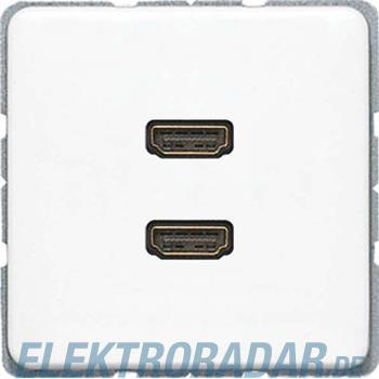Jung Multimediadose 2 x HDMI MA CD 1133 WW