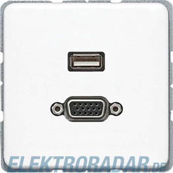 Jung Multimediadose USB + VGA MA CD 1183 WW