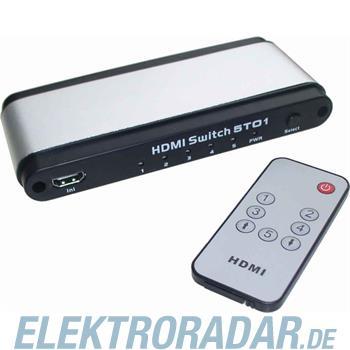 E+P Elektrik HDMI-Umschalter HDMI 51 si/sw
