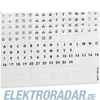 Legrand Blatt m. Symbolen 04999