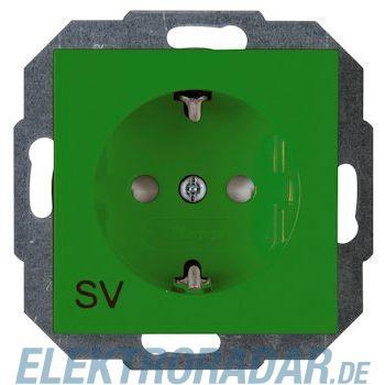 Kopp 9400.0800.3 Schutzkontakt-Steckdose mit Kinderschutz, HK07, SV grün