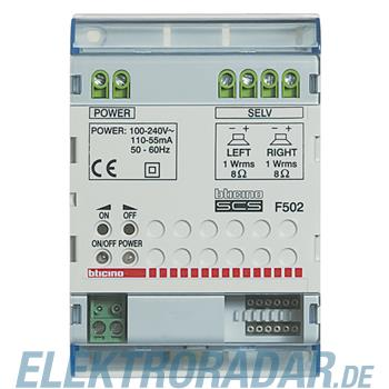 Legrand F502 Stereo-Reiheneinbauverstärker, Leistung16Wpmpo an