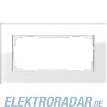 Gira Abdeckrahmen 2f. weissglas 100212