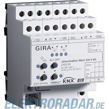 Gira Jalousieaktor 2fach 215200