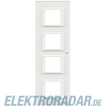 Legrand HA4802M4VBB Rahmen rechteckig 4x2 Module White Glass