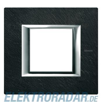 Legrand HA4802RLV Rahmen rechteckig 2 Module Schiefer