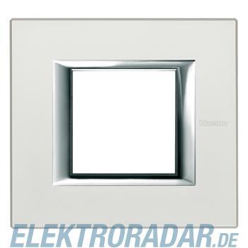 Legrand HA4802SA Rahmen rechteckig 2 Module Silber, matt