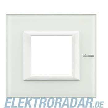 Legrand HA4802VBB Rahmen rechteckig 2 Module White Glass