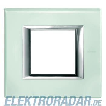 Legrand HA4802VKA Rahmen rechteckig 2 Module Glas Kristallglas