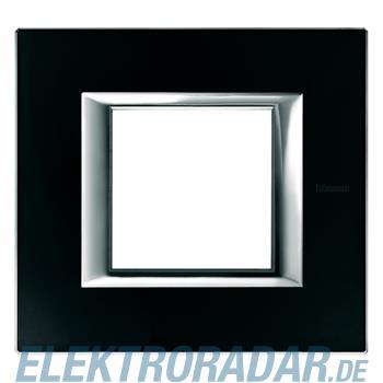 Legrand HA4802VNN Rahmen rechteckig 2 Module Glas Nachtschwarz