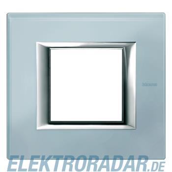 Legrand HA4802VZS Rahmen rechteckig 2 Module Glas Blau