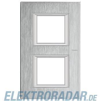Legrand HA4802/2CR Rahmen rechteckig 2x2 Module Chrom, gebürstet