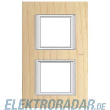 Legrand HA4802/2LFR Rahmen rechteckig 2x2 Module Echtholz Esche