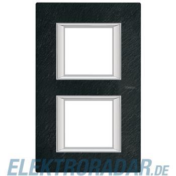 Legrand HA4802/2RLV Rahmen rechteckig 2x2 Module Schiefer