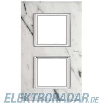 Legrand HA4802/2RMC Rahmen rechteckig 2x2 Module Carrara Marmor