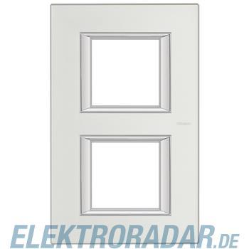 Legrand HA4802/2SA Rahmen rechteckig 2x2 Module Silber, matt