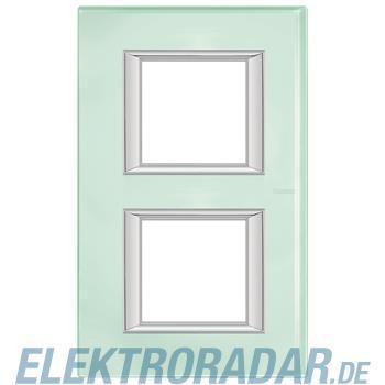 Legrand HA4802/2VKA Rahmen rechteckig 2x2 Module Glas Kristallglas