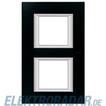Legrand HA4802/2VNN Rahmen rechteckig 2x2 Module Glas Nachtschwarz