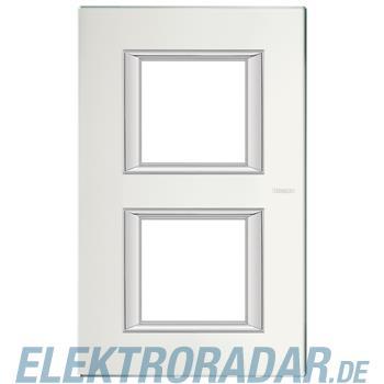Legrand HA4802/2VSA Rahmen rechteckig 2x2 Module Glas Spiegelnd
