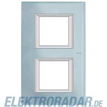 Legrand HA4802/2VZS Rahmen rechteckig 2x2 Module Glas Blau