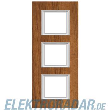 Legrand HA4802/3LTK Rahmen rechteckig 3x2 Module Echtholz Teak