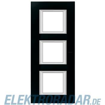 Legrand HA4802/3VNN Rahmen rechteckig 3x2 Module Glas Nachtschwarz