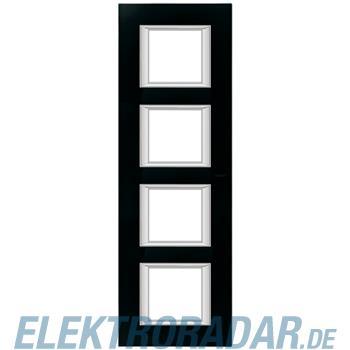 Legrand HA4802/4VNN Rahmen rechteckig 4x2 Module Glas Nachtschwarz
