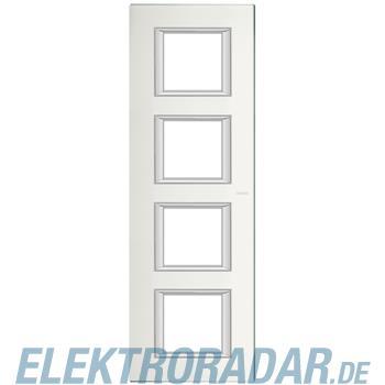 Legrand HA4802/4VSA Rahmen rechteckig 4x2 Module Glas Spiegelnd