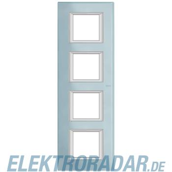 Legrand HA4802/4VZS Rahmen rechteckig 4x2 Module Glas Blau