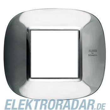 Legrand HB4802AXL Rahmen elliptisch 2 Module Stahl, poliert Alessi