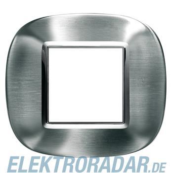 Legrand HB4802AXS Rahmen elliptisch 2 Module Stahl, gebürstet Alessi