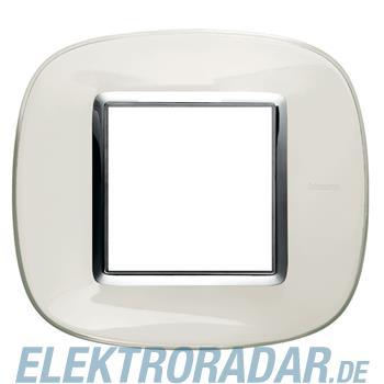 Legrand HB4802DB Rahmen elliptisch 2 Module Weiss