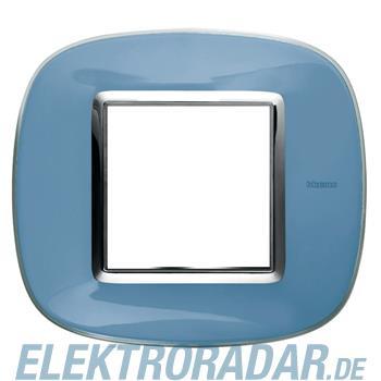 Legrand HB4802DZ Rahmen elliptisch 2 Module Blau