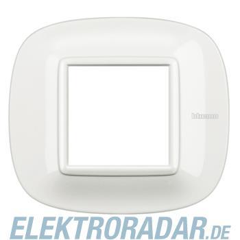 Legrand HB4802HD Rahmen elliptisch 2 Module White Aluminium