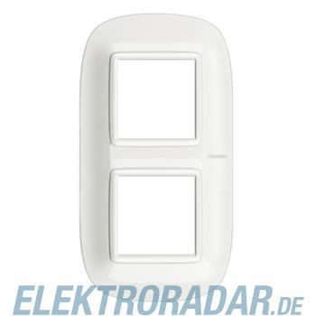 Legrand HB4802M2HD Rahmen elliptisch 2x2 Module White Aluminium