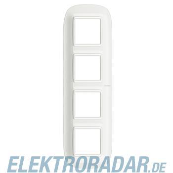 Legrand HB4802M4HD Rahmen elliptisch 4x2 Module White Aluminium