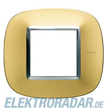 Legrand HB4802OS Rahmen elliptisch 2 Module Gold, matt