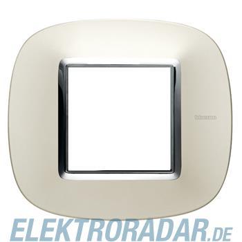 Legrand HB4802SA Rahmen elliptisch 2 Module Silber, matt