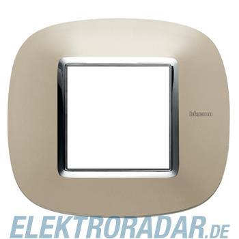 Legrand HB4802TC Rahmen elliptisch 2 Module Titan