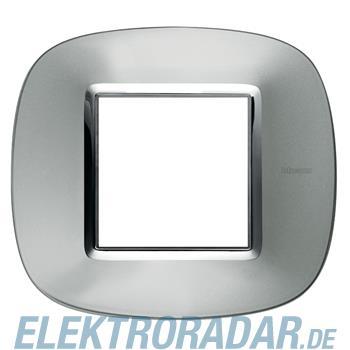 Legrand HB4802XC Rahmen elliptisch 2 Module Aluminium