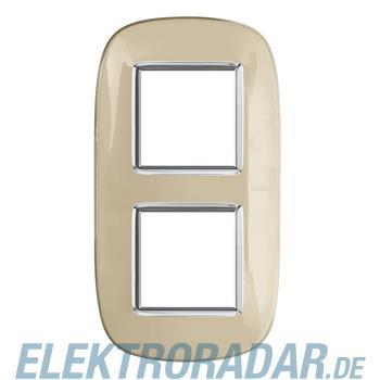 Legrand HB4802/2DA Rahmen elliptisch 2x2 Module Ivory