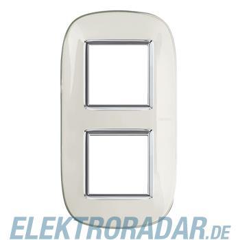 Legrand HB4802/2DB Rahmen elliptisch 2x2 Module Weiss