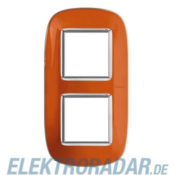 Legrand HB4802/2DR Rahmen elliptisch 2x2 Module Orange