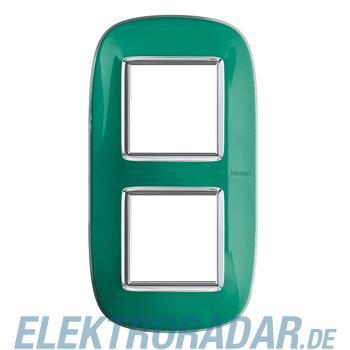 Legrand HB4802/2DV Rahmen elliptisch 2x2 Module Grün