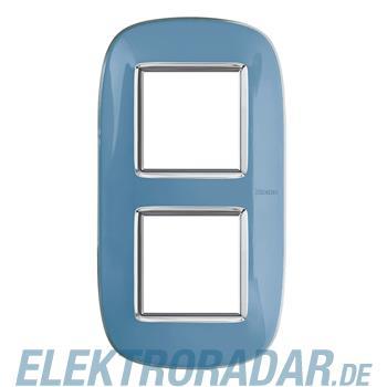 Legrand HB4802/2DZ Rahmen elliptisch 2x2 Module Blau