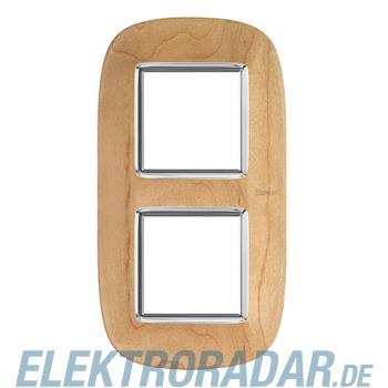 Legrand HB4802/2LAE Rahmen elliptisch 2x2 Module Ahorn