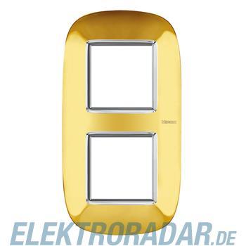 Legrand HB4802/2OR Rahmen elliptisch 2x2 Module Gold, glänzend