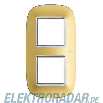 Legrand HB4802/2OS Rahmen elliptisch 2x2 Module Gold, matt